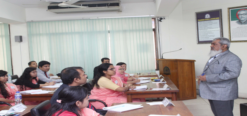 A session Conducted by Cabinet Secretary Sir